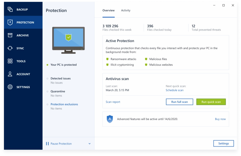 Integrated anti-malware protection