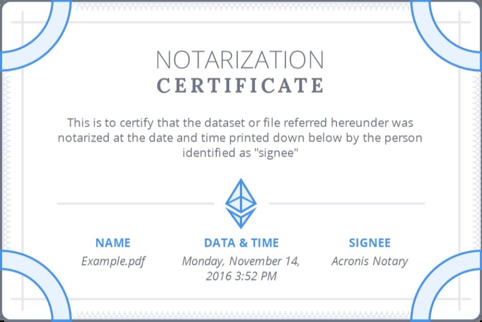 Noterization Certificate