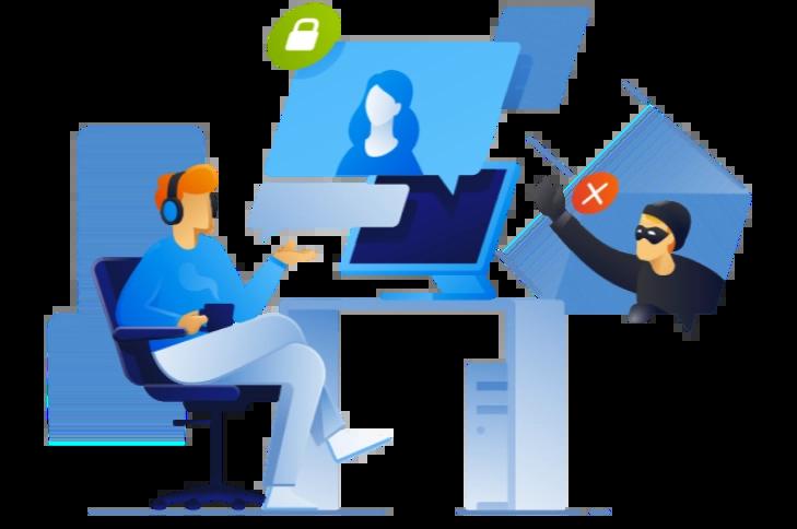 Schutz für Videokonferenzen